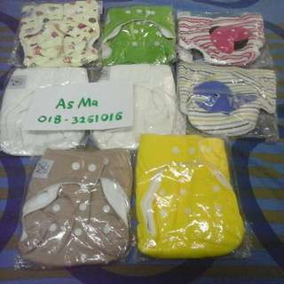 NEW 6 pcs cloth diaper pocket & 2 pcs trainning pants freesize (all inc pos)