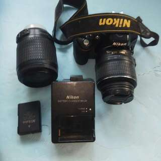 Nikon D5100  Come With Battery &Cherger Lens 18-55 & 55-200  16 Megapixel Condition Is Very Good