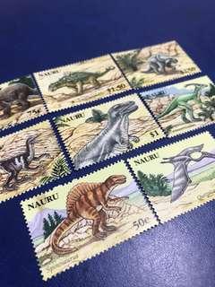 只限兩套 瑙魯共和國 2006 史前動物 恐龍 郵票8全 目錄14.4美元