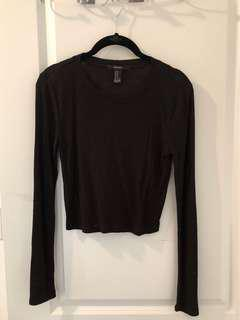 Forever 21 Ribbed Cropped Long Sleeve