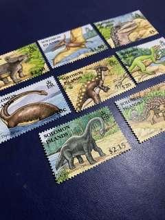 所羅門群島 2006 史前動物 恐龍 郵票8全