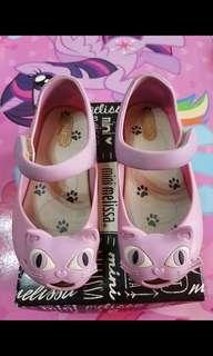 Mini Melissa Ultragirl Cat s9 size 9 16cm Pink kids hello kitty ootd fashion shoes authentic auth minimel orig zaxy nike jelly sandals ultragirl mel