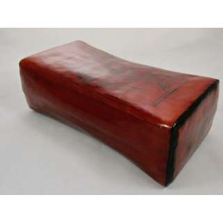 Traditional leather hard pillow