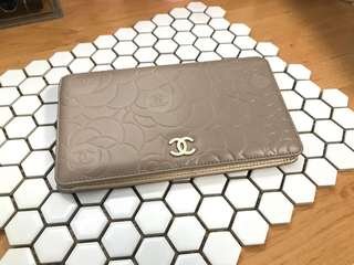 Chanel Yen Wallet in light gold