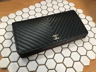 Chanel Caviar Wallet in Black
