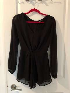 Cotton On Black Chiffon Romper