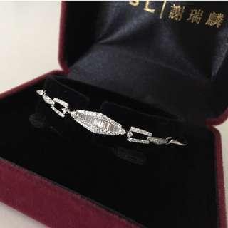 ✨New 18K 0.693 carat diamond bracelet全新18K白金69份鑽石手鏈✨