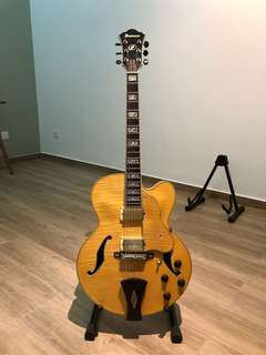 Ibanez AE105-NT Full hollow custom