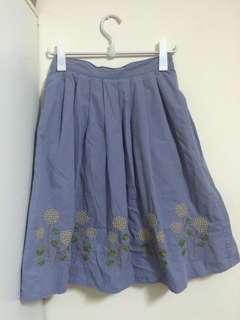 SM2藍色花朵裙