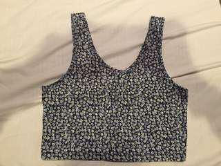 Flower Print Crop Top