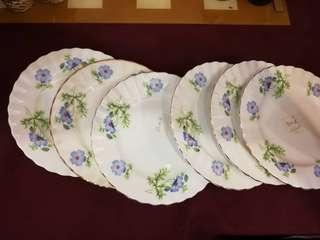 English Cake Plates