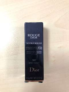 Dior double rouge matte metal lipstick 582 Spicy Sweet