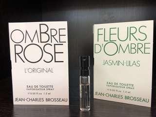 法國芝恩布莎女性淡香水隨身管1.5ml(茉莉、白玫瑰)
