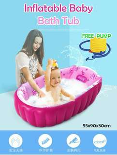 Inflatable Baby bath tub Free setp PUMP