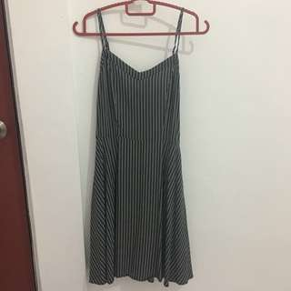 Cotton On Black Stripes A-Line Mni Dress