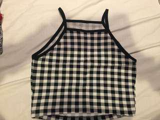 Miss Selfridge Checkered Top