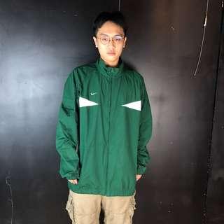🚚 古著Nike綠色防風運動外套
