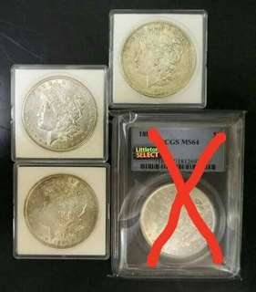 USA Morgan Dollar . Silver