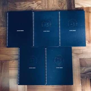 A'zone A5 notebook 📓 5x black 21 cm x 15 cm