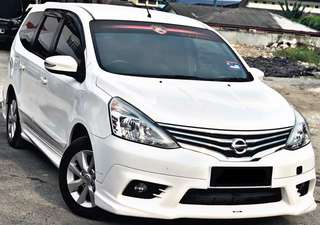 NISSAN GRAND LIVINA CONTINUE LOAN /SEWA BELI DITAIL PM  Klik : wasap.my/+60183626304(AMY)