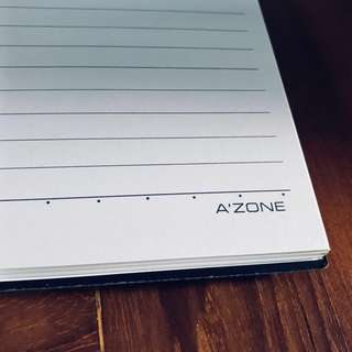 A'zone B4 ring note book in classic black cover 📚 26 cm x 18 cm