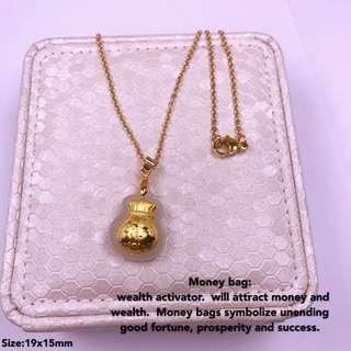 Hetian Jade Money bag Neckace