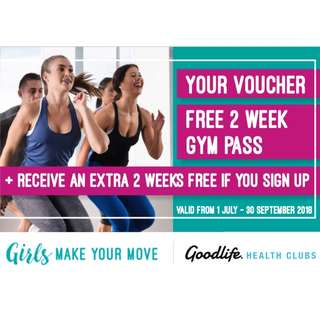 Girls Make Your Move with a 2 week pass to Goodlife Health Clubs!