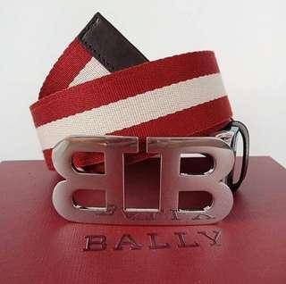 Bally Stripe Red/Beige Belt Size 95cm