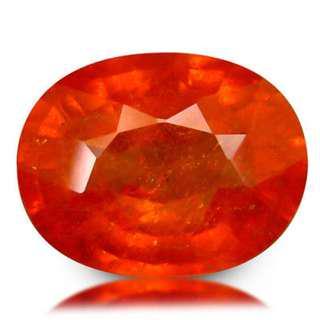 Garnet spess. 2.93ct bright orange, untreated