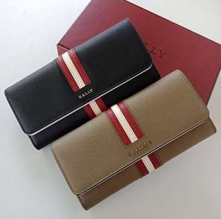 Bally Long Wallet Stripe