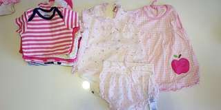 Baby girl (6-12 mo) bodysuits and dresses