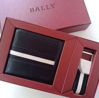 Bally Tollen Wallet Set Black