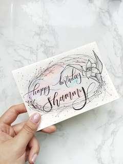 Custom Calligraphy Cards