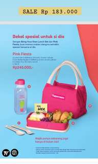 Tupperware Pink Fiesta