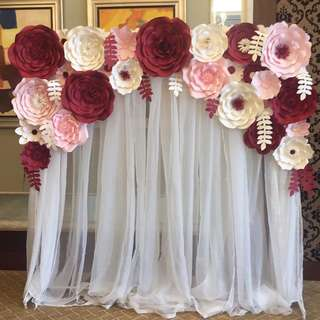 Used paper flowers