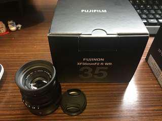 Fuji 35mm F2 XF lens