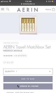 Aerin Perfume Travel Set