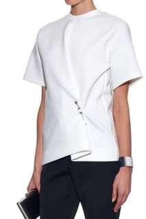 Balenciaga Scuba pearl pin oversized tee 太空棉扣針上衣