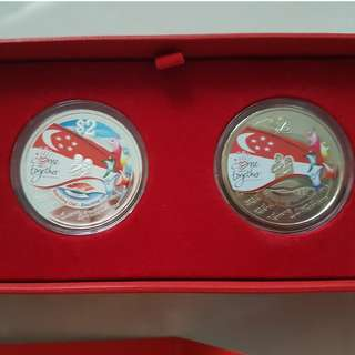NDP 2009 silver proof coin set