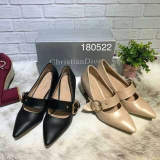 Dior heels black & cream