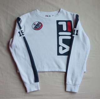 Cropped fila sweater