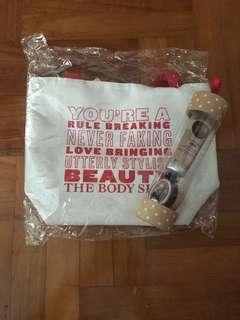 Bodyshop bag & hand cream