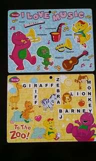 Barney Educational Puzzles 40 pieces