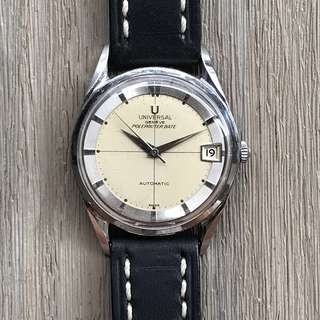 Universal Geneve Polerouter Date Automatic Watch
