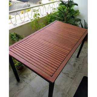 Beautiful Eucalyptus Wood Outdoor Table