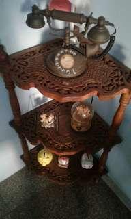 Teak corner table