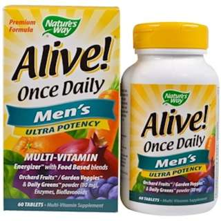 IN STOCK Nature's Way, Alive! Once Daily, Men's Multi-Vitamin, 60 Tablets