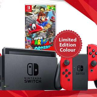 Nintendo Switch Red Super Mario Odyssey Edition (Local Set)