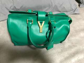 YSL Small Cabas Emerald Green Bag