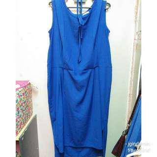 Preloved Plussize Blue Dress